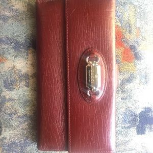 Red Leather Gucci Long Wallet